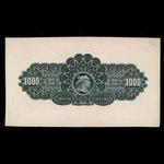 Canada, Dominion Bank, 1,000 dollars