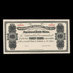 Canada, Newfoundland - Department of Public Works, 40 cents <br /> 1909