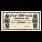 Canada, Newfoundland - Department of Public Works, 50 cents <br /> 1909