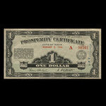 Canada, Alberta - Treasury Department, 1 dollar <br /> August 5, 1936