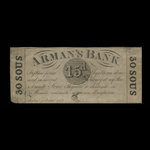 Canada, Arman's Bank, 15 pence <br /> August 1, 1837