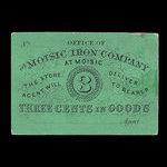 Canada, Moisic Iron Company, 3 cents : 1876