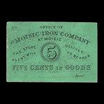 Canada, Moisic Iron Company, 5 cents : 1876