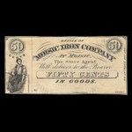 Canada, Moisic Iron Company, 50 cents : 1876