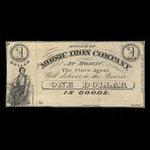 Canada, Moisic Iron Company, 1 dollar : 1876