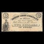 Canada, Moisic Iron Company, 2 dollars : 1876