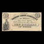 Canada, Moisic Iron Company, 10 dollars : 1876