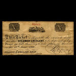 Canada, Steamer Crescent, no denomination <br /> June 28, 1856