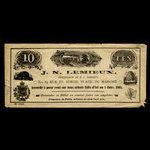 Canada, J.N. Lemieux, 5 percent <br /> January 1, 1885