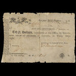 Canada, Army Bill Office, 10 dollars <br /> January 1, 1815
