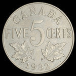 Canada, George V, 5 cents <br /> 1932