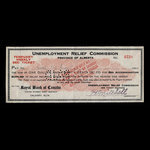 Canada, Alberta - Unemployment Relief Commission, 1 dollar, 20 cents <br /> 1935