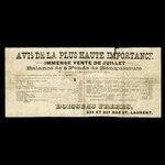 Canada, Boisseau Frères, no denomination <br /> 1887