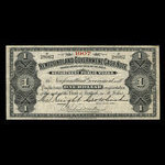 Canada, Newfoundland - Department of Public Works, 1 dollar <br /> 1907