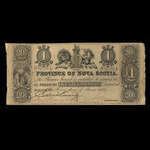 Canada, Province of Nova Scotia, 1 pound <br /> June 1, 1854