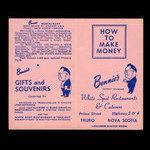Canada, Bennie's Restaurant, no denomination <br /> 1950