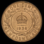 Canada, George V, 1 cent <br /> 1936