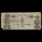 Canada, Molsons Bank, 1 dollar <br /> September 15, 1837