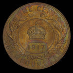 Canada, George V, 1 cent <br /> 1917