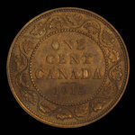 Canada, George V, 1 cent <br /> 1912