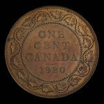 Canada, George V, 1 cent <br /> 1920