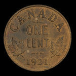 Canada, George V, 1 cent <br /> 1921