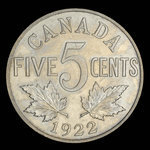 Canada, George V, 5 cents <br /> 1922