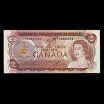Canada, Bank of Canada, 2 dollars <br /> 1974