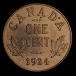 Canada, George V, 1 cent <br /> 1924