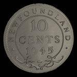 Canada, George VI, 10 cents <br /> 1945