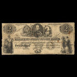 Canada, Farmer's Joint Stock Banking Co., 2 dollars <br /> February 1, 1849