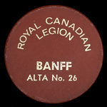 Canada, Royal Canadian Legion (R.C.L.) No. 26, no denomination <br />