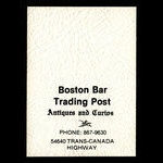 Canada, Boston Bar Trading Post, aucune dénomination <br /> 1975