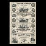 Canada, Colonial Bank of Canada, 20 dollars <br /> 1863