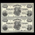 Canada, Federal Bank of Canada, 50 dollars <br /> January 1, 1877