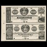 Canada, Commercial Bank of New Brunswick, 50 dollars <br /> November 1, 1860