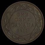 Canada, George V, 1 cent <br /> 1911