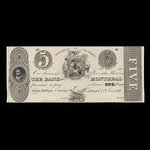 Canada, Bank of Montreal, 5 dollars <br /> June 1, 1839