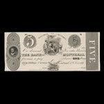 Canada, Bank of Montreal, 5 dollars <br /> June 1, 1839