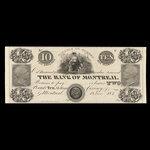 Canada, Bank of Montreal, 10 dollars <br /> June 1, 1839