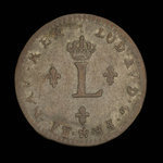 France, Louis XV, 2 sous <br /> 1743