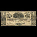Canada, Farmer's Joint Stock Banking Co., 4 dollars <br /> 1840