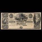 Canada, Bank of Upper Canada (York), 50 dollars <br /> 1866