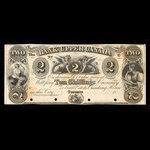Canada, Bank of Upper Canada (York), 2 dollars <br /> 1857