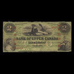 Canada, Bank of Upper Canada (York), 2 dollars <br /> January 1, 1861
