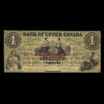 Canada, Bank of Upper Canada (York), 4 dollars <br /> July 4, 1859