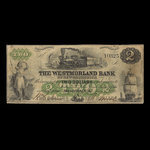 Canada, Westmorland Bank of New Brunswick, 2 dollars <br /> August 1, 1861