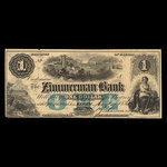 Canada, Zimmerman Bank, 1 dollar <br /> August 7, 1856
