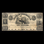 Canada, Bank of the People, 10 dollars <br /> April 9, 1842