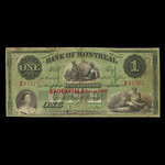 Canada, Bank of Montreal, 1 dollar <br /> January 3, 1859
